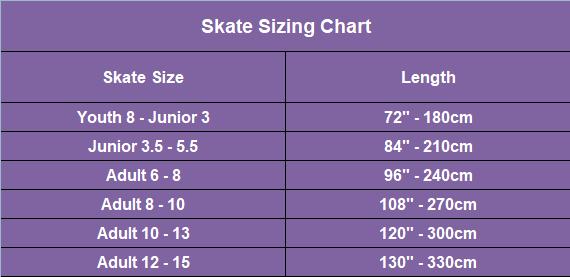 skates laces sizing chart