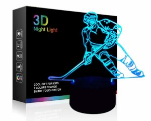 Hockey Player 3D Night Lamp