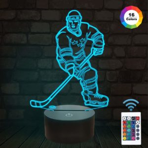 Ice Hockey Athlete 3D Lamp