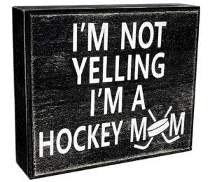 Hockey Mom Wood Wall Sign