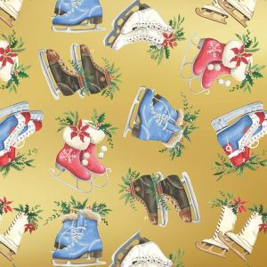 Ice Skates Wrapping Paper